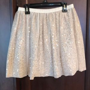 Girls gold special occasion skirt size 10/12